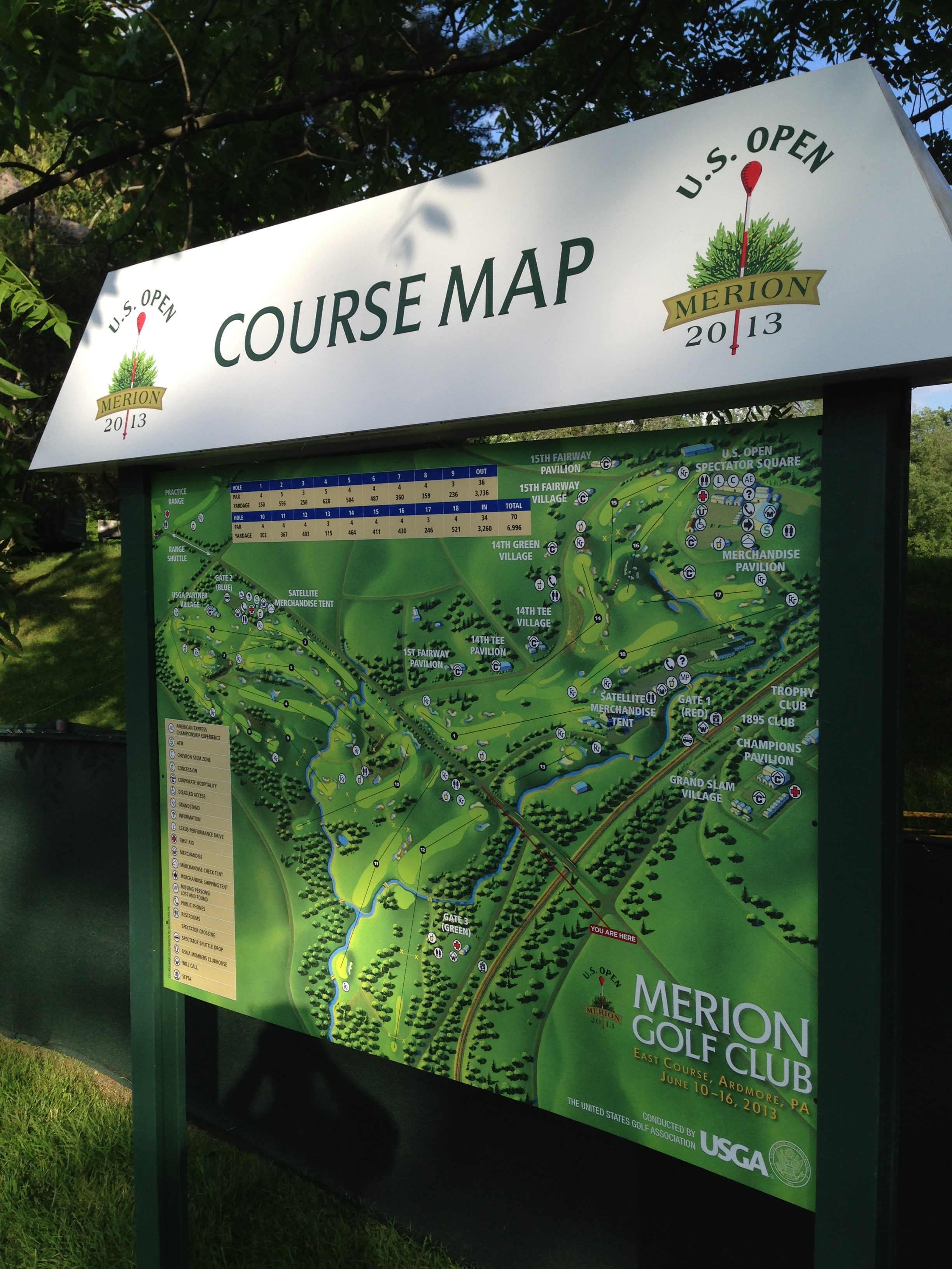 Merion Golf Club US Open - Us Open Course Map