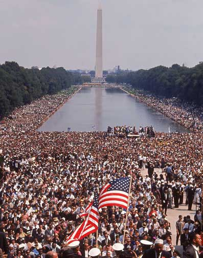 March on Washington Dream speech crowd