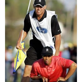 Steve Williams Tiger Woods Putting