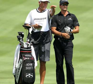 Steve Williams Adam Scott Golf