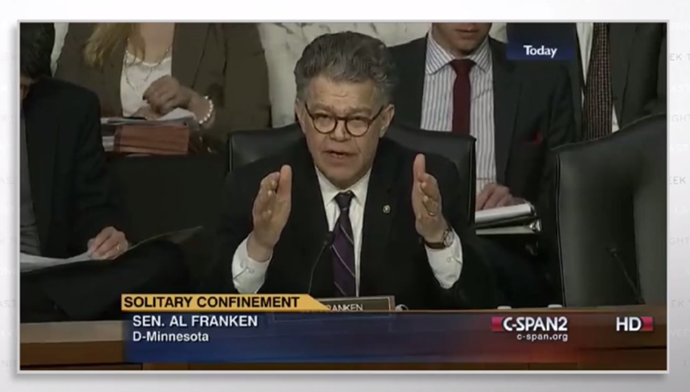 Al Franken Questions US Prisons Director